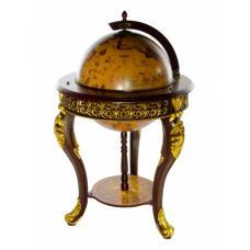 Глобус бар напольный Царский коричневый