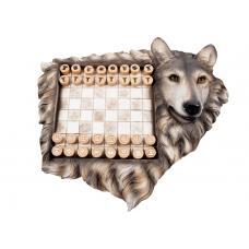 Шахматы подарочные Волк
