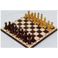 Шахматы с темной доской лакированные 7Е