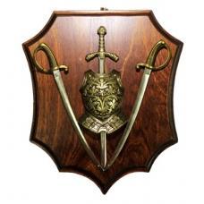 Трофей с двумя саблями и мечом арт TR-121