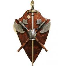 Трофей с двумя топорами и мечем арт TR 188