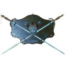 Трофей с двумя мечами и алебардами арт TR 2S