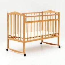 Купить в Минске Кроватка детская Bambini колесо+качалка (Натуральный) Кроватка детская Bambini колесо+качалка (Натуральный)