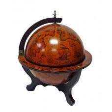 Глобус-бар настольный (диаметр 33 см, коричневый)3N