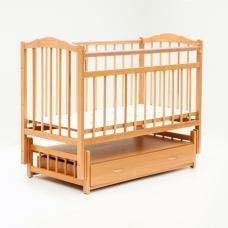 Купить в Минске Кроватка детская Bambini маятник с ящиком (Натуральный) Кроватка детская Bambini маятник с ящиком (Натуральный)