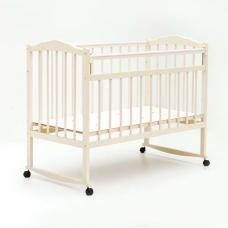 Купить в Минске Кроватка детская Bambini колесо+качалка (Слоновая кость) Кроватка детская Bambini колесо+качалка (Слоновая кость)