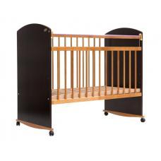 Кроватка детская Элеганс 06 Колесо-качалка венге-бук
