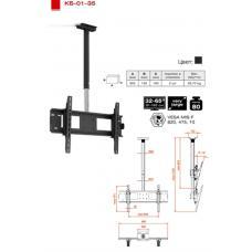 Купить в Минске Кронштейн для плазмы / ЖК потолочный ElectricLight КБ-01-35 Кронштейн для плазмы / ЖК потолочный ElectricLight КБ-01-35