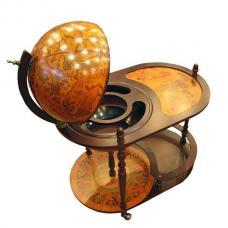 Купить в Минске Глобус-бар напольный со столиком (коричневый) Глобус-бар напольный со столиком (коричневый)