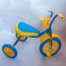 Купить в Минске Велосипед трехколесный Зубренок (синий+синий) Велосипед трехколесный Зубренок (синий+синий)