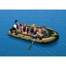 Купить в Минске Надувная лодка INTEX 68351 Seahawk 400 с веслами и насосом Надувная лодка INTEX 68351 Seahawk 400 с веслами и насосом
