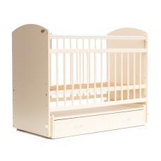 Кроватка детская Элеганс 07  Маятник с ящиком  Слоновая кость