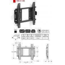 Купить в Минске Кронштейн для LCD телевизора ElectricLight КБ-01-60 Кронштейн для LCD телевизора ElectricLight КБ-01-60