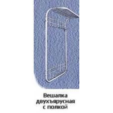 Купить в Минске Вешалка настенная двухъярусная с полкой арт. 0212 Вешалка настенная двухъярусная с полкой арт. 0212