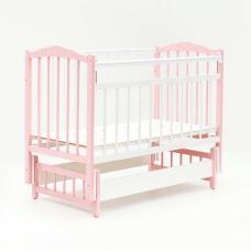 Купить в Минске Кровать детская Bambini с Маятником (Бело-розовый) Кровать детская Bambini с Маятником (Бело-розовый)