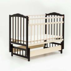 Купить в Минске Кровать детская Bambini с Маятником (Темный орех + Слоновая кость) Кровать детская Bambini с Маятником (Темный орех + Слоновая кость)