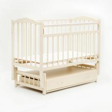 Купить в Минске Кроватка детская Bambini маятник с ящиком (Слоновая кость) Кроватка детская Bambini маятник с ящиком (Слоновая кость)