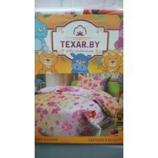 Комплект детского постельного Девочка с цветами