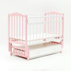 Купить в Минске Кровать детская Bambini маятник с ящиком (Бело-розовый Кровать детская Bambini маятник с ящиком (Бело-розовый
