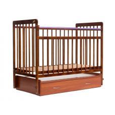 Кроватка детская ЕвроСтиль 04  Маятник с ящиком светлый орех