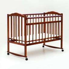 Купить в Минске Кроватка детская Bambini колесо+качалка (Светлый орех) Кроватка детская Bambini колесо+качалка (Светлый орех)
